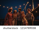 group of friends at party   Shutterstock . vector #1214789038
