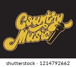 country music. vector... | Shutterstock .eps vector #1214792662