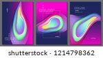 abstract neon color background   Shutterstock .eps vector #1214798362