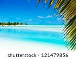 beautiful tropical lagoon...   Shutterstock . vector #121479856