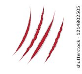 claws scratch on paper... | Shutterstock .eps vector #1214802505
