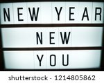 new year  new you  new years... | Shutterstock . vector #1214805862