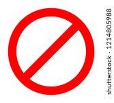 red not allowed sign. vector... | Shutterstock .eps vector #1214805988