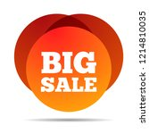 big sale. special offer price... | Shutterstock .eps vector #1214810035