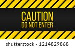 caution do not enter sign ... | Shutterstock .eps vector #1214829868