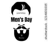 international mens day icon.... | Shutterstock .eps vector #1214831035
