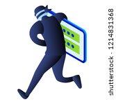 hacker steal login password... | Shutterstock .eps vector #1214831368