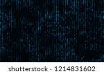a stream of binary matrix code... | Shutterstock .eps vector #1214831602