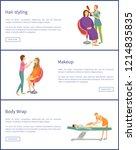hair styling hairdresser and... | Shutterstock .eps vector #1214835835