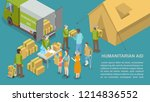 humanitarian help and aid for... | Shutterstock .eps vector #1214836552