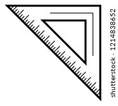school angle ruler icon.... | Shutterstock .eps vector #1214838652