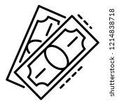 dollar bill paper icon. outline ...   Shutterstock .eps vector #1214838718