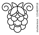 bunch of grapes icon. outline...   Shutterstock .eps vector #1214839918