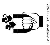 customer retention icon. simple ... | Shutterstock .eps vector #1214842615