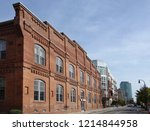 view of downtown durham showing ... | Shutterstock . vector #1214844958