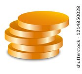 gold jewish coin icon.... | Shutterstock .eps vector #1214850028