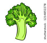 italian broccoli icon. cartoon... | Shutterstock .eps vector #1214852278