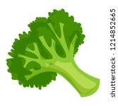 healthy broccoli icon. cartoon... | Shutterstock .eps vector #1214852665