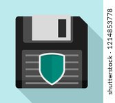 floppy disk protected icon.... | Shutterstock .eps vector #1214853778