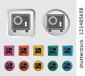 bank safe icon. vector... | Shutterstock .eps vector #121485658