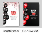 black friday sale poster with... | Shutterstock .eps vector #1214862955