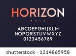 vector trendy minimal sans... | Shutterstock .eps vector #1214865958