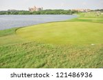CHONBURI, THAILAND - DECEMBER 8 : A general view of The Golf Championship Thailand Round 3 at Ammata Spring Country Club on December 8, 2012 in Chonburi, Thailand. - stock photo