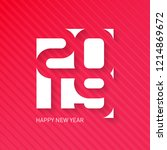 happy new year  2019. vector... | Shutterstock .eps vector #1214869672