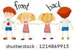 english opposite word of front... | Shutterstock .eps vector #1214869915