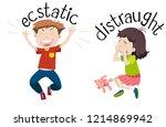 english opposite word of... | Shutterstock .eps vector #1214869942
