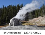 lone star geyser erupts on... | Shutterstock . vector #1214872522