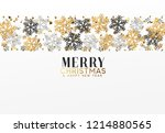 merry christmas and happy new... | Shutterstock .eps vector #1214880565