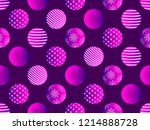 seamless pattern with christmas ... | Shutterstock .eps vector #1214888728