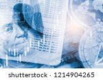 modern way of exchange. bitcoin ... | Shutterstock . vector #1214904265