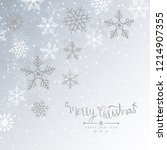 merry christmas background with ... | Shutterstock .eps vector #1214907355