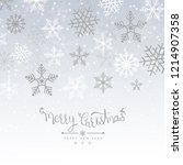 merry christmas background with ... | Shutterstock .eps vector #1214907358