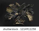 vector arrangement with black... | Shutterstock .eps vector #1214911258