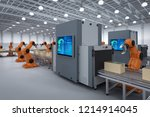 automation industry concept... | Shutterstock . vector #1214914045