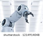 3d rendering white robotic arm... | Shutterstock . vector #1214914048