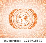 earth icon inside abstract... | Shutterstock .eps vector #1214915572