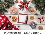 creative layout frame made of... | Shutterstock . vector #1214918542