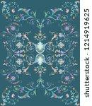 baroque damask pattern ... | Shutterstock . vector #1214919625