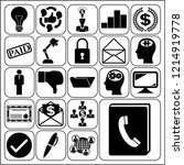 set of 22 business icons ... | Shutterstock .eps vector #1214919778