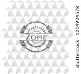 zone realistic grey emblem with ... | Shutterstock .eps vector #1214924578