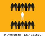 concept. dare to be different.... | Shutterstock .eps vector #1214931592