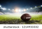 rugby game concept. mixed media | Shutterstock . vector #1214933332