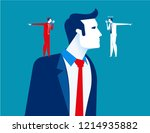 decision making of business... | Shutterstock .eps vector #1214935882