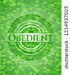 obedient green emblem with... | Shutterstock .eps vector #1214937025
