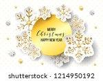 luxury elegant merry christmas... | Shutterstock .eps vector #1214950192