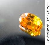 natural yellow sapphire gemstone | Shutterstock . vector #1214951998